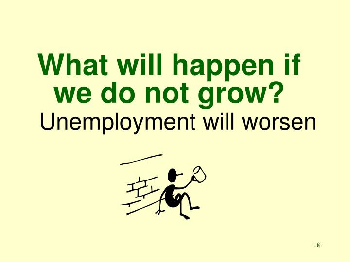 What will happen if we do not grow?