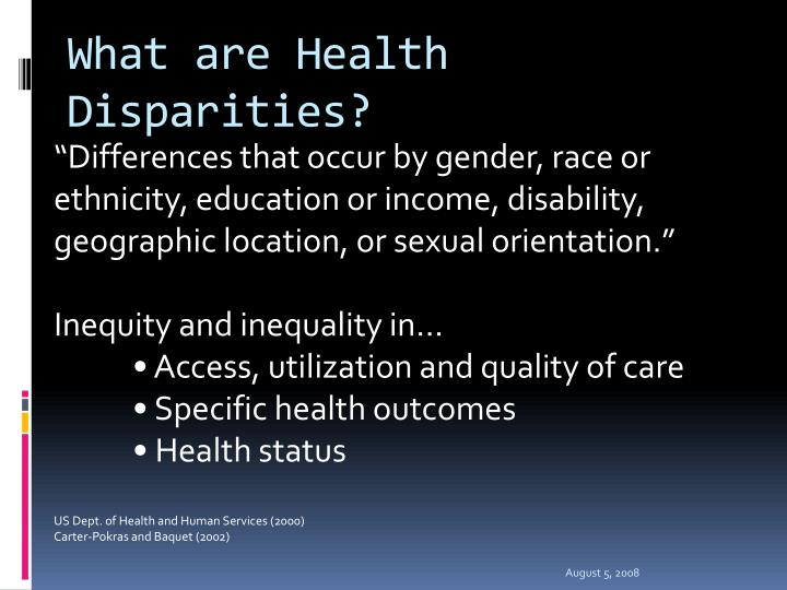 What are Health Disparities?