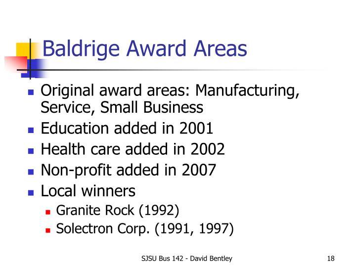 Baldrige Award Areas