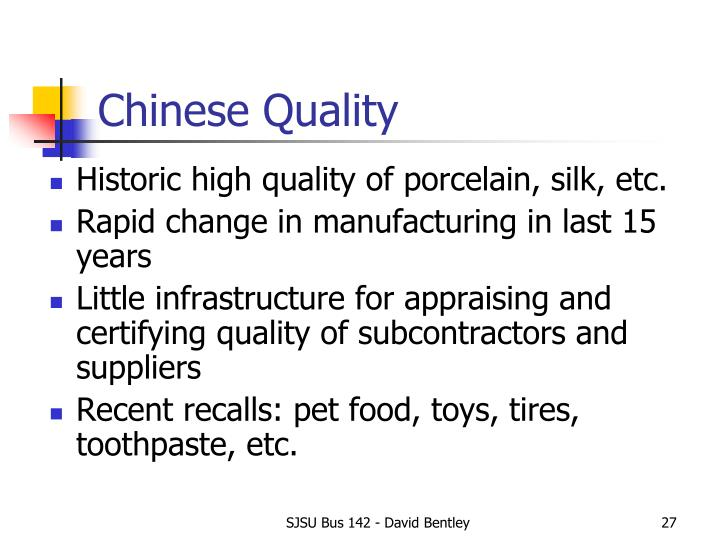 Chinese Quality