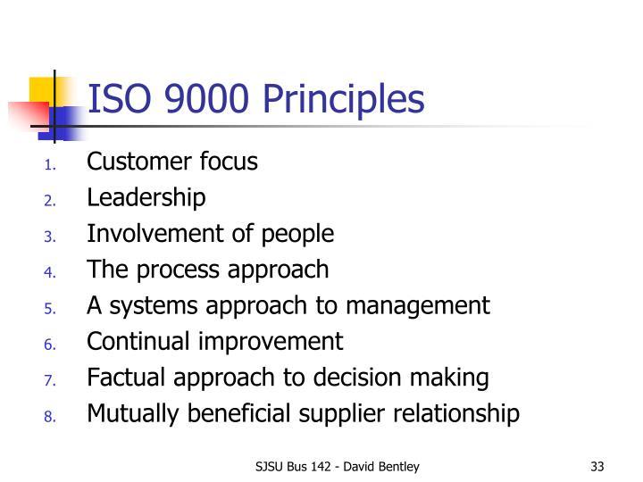 ISO 9000 Principles