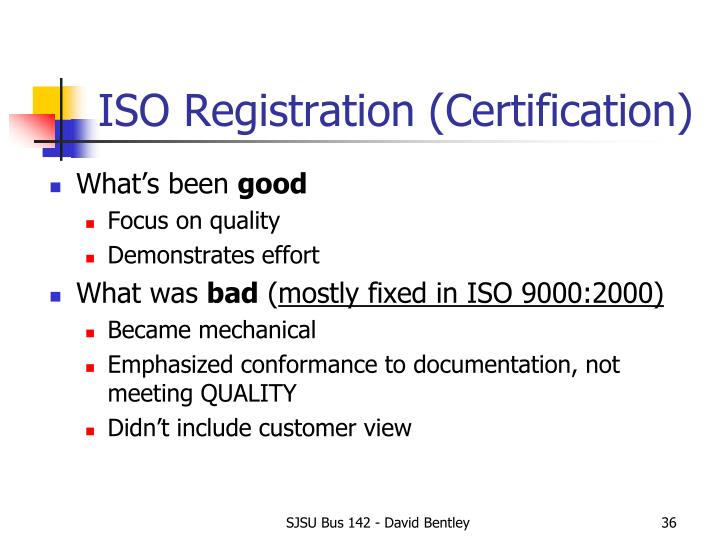 ISO Registration (Certification)