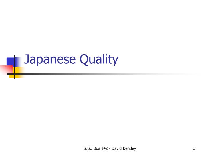 Japanese Quality