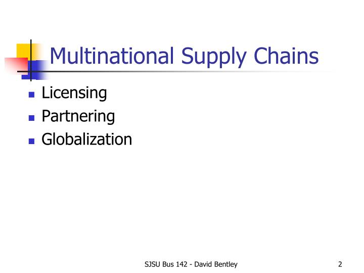 Multinational Supply Chains