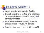 six sigma quality 1