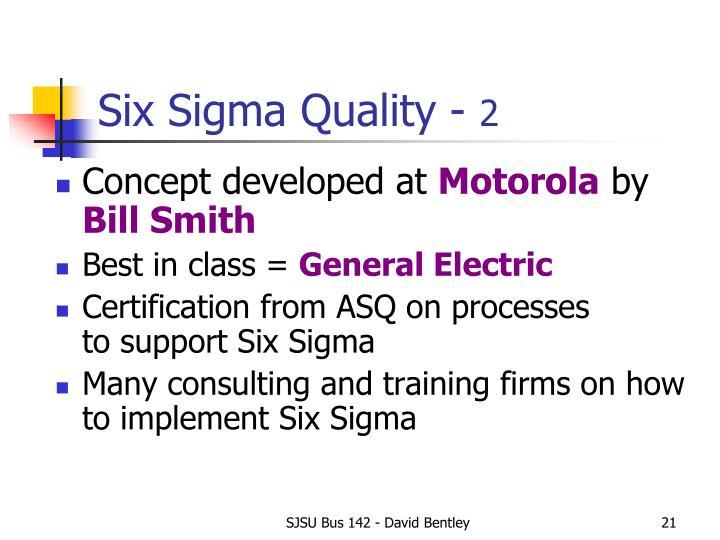 Six Sigma Quality -