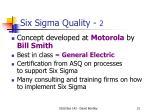 six sigma quality 2