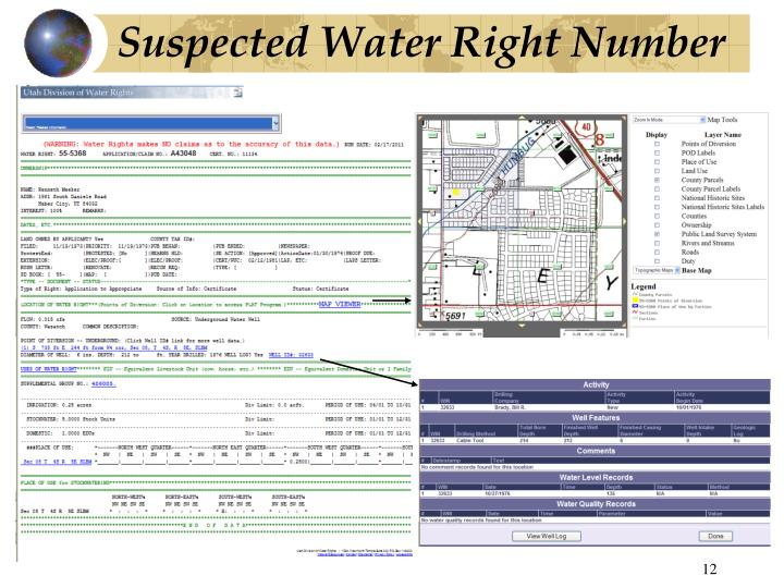 Suspected Water Right Number