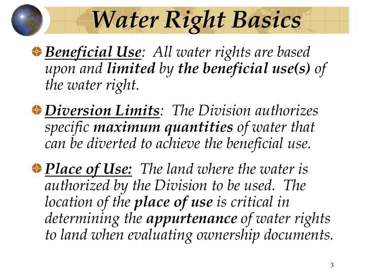 Water Right Basics