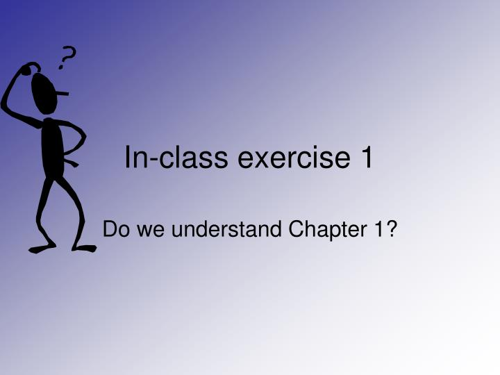 In-class exercise 1