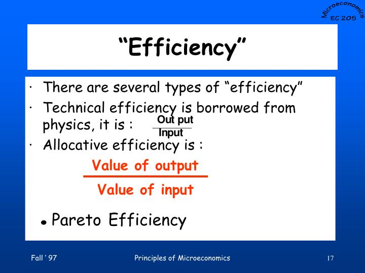 Value of output