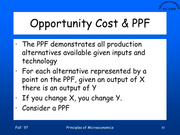 Opportunity Cost & PPF