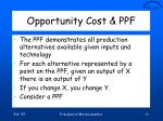 opportunity cost ppf