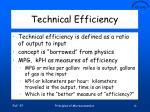 technical efficiency