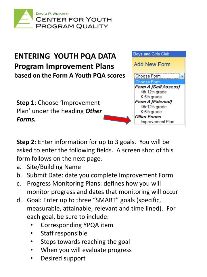 ENTERING  YOUTH PQA DATA