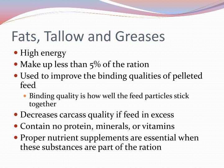 Fats, Tallow and Greases