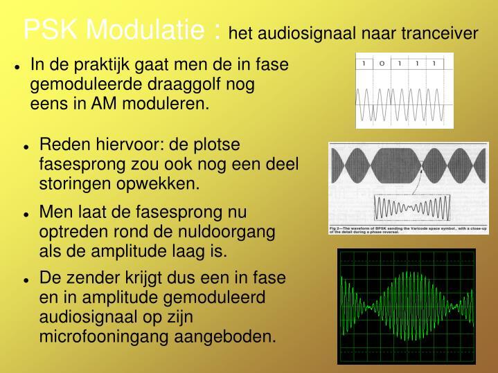 PSK Modulatie :