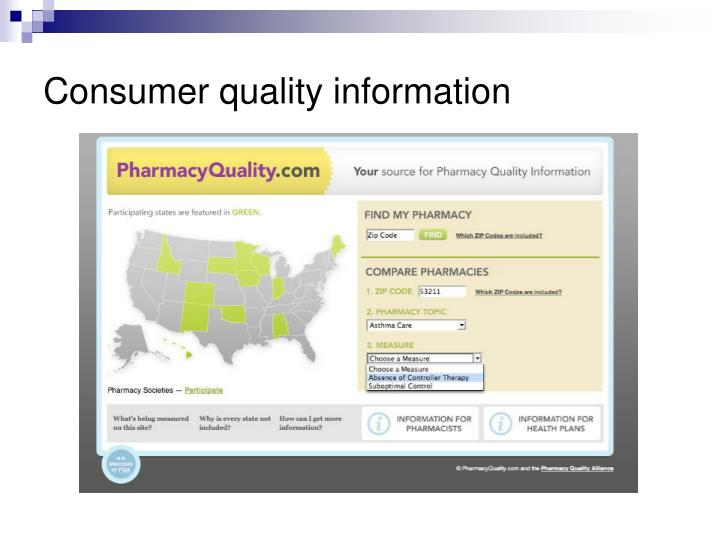 Consumer quality information