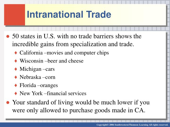 Intranational Trade