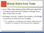 mutual gains from trade