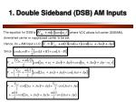 1 double sideband dsb am inputs