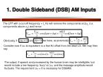 1 double sideband dsb am inputs1