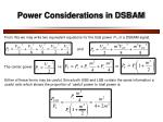 power considerations in dsbam1