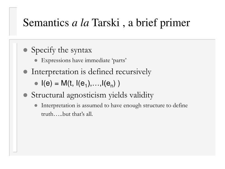 Semantics
