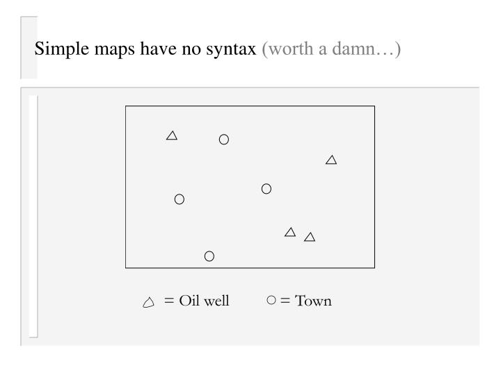 Simple maps have no syntax