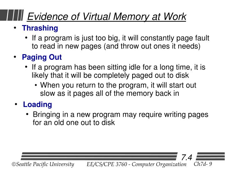 Evidence of Virtual Memory at Work