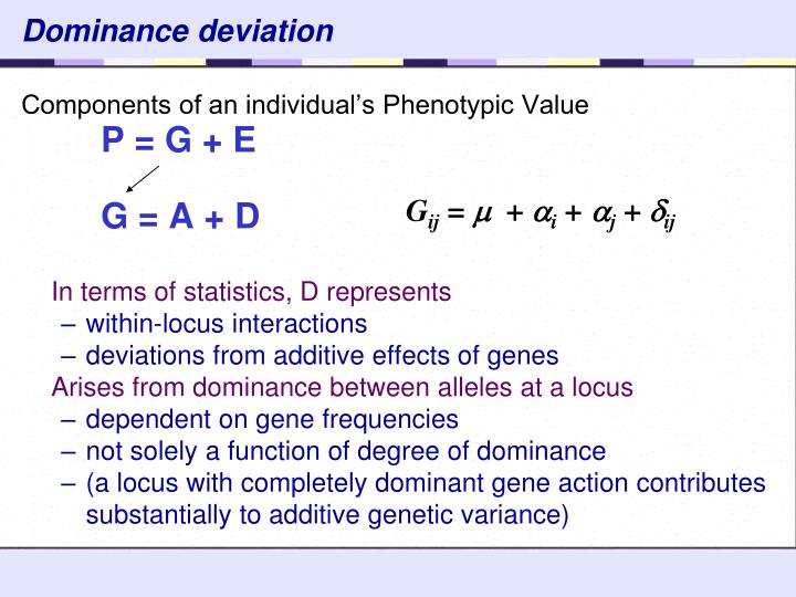 Dominance deviation