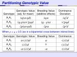 partitioning genotypic value