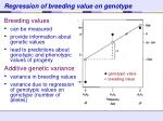 regression of breeding value on genotype