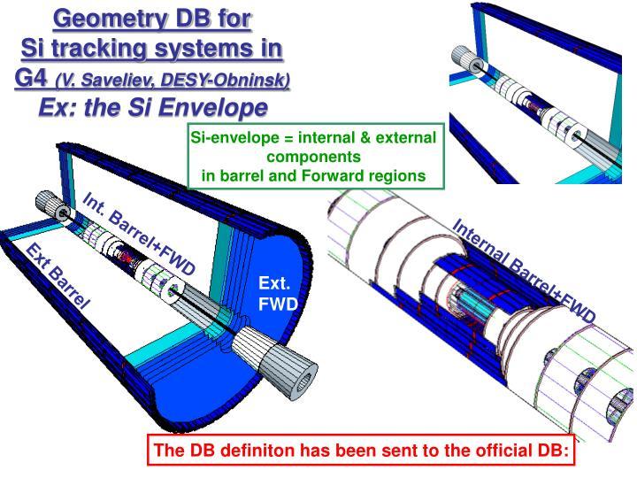 Geometry DB for