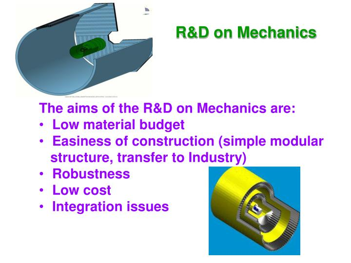 R&D on Mechanics