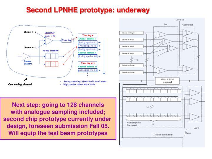 Second LPNHE prototype: underway