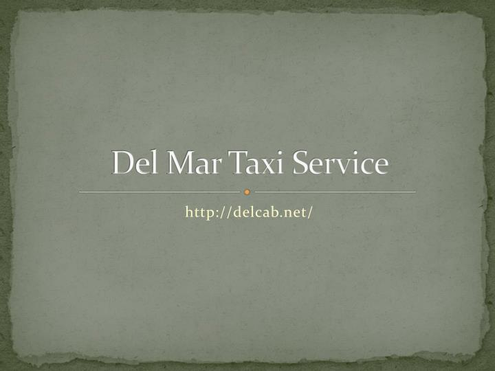 Del Mar Taxi Service