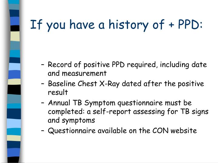 If you have a history of + PPD: