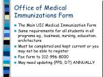 office of medical immunizations form