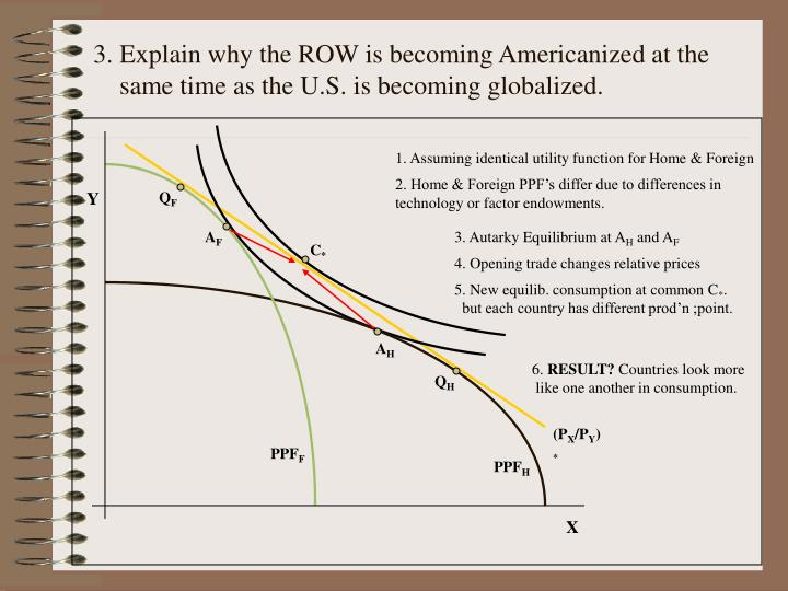 1. Assuming identical utility function for Home & Foreign