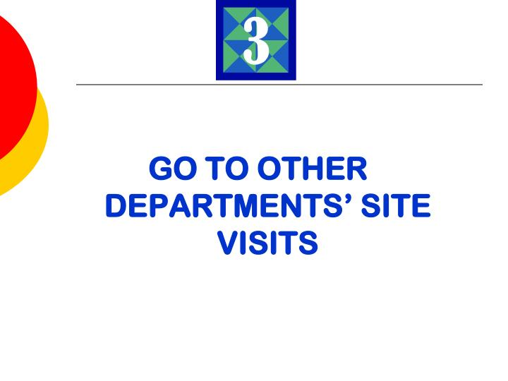 GO TO OTHER DEPARTMENTS' SITE VISITS