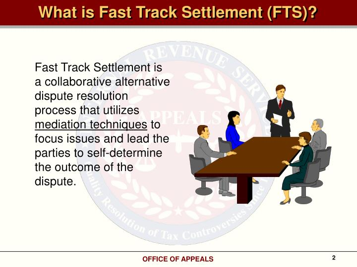 What is Fast Track Settlement (FTS)?