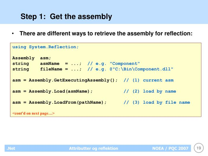 Step 1:  Get the assembly