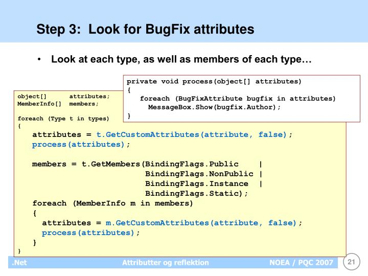 Step 3:  Look for BugFix attributes
