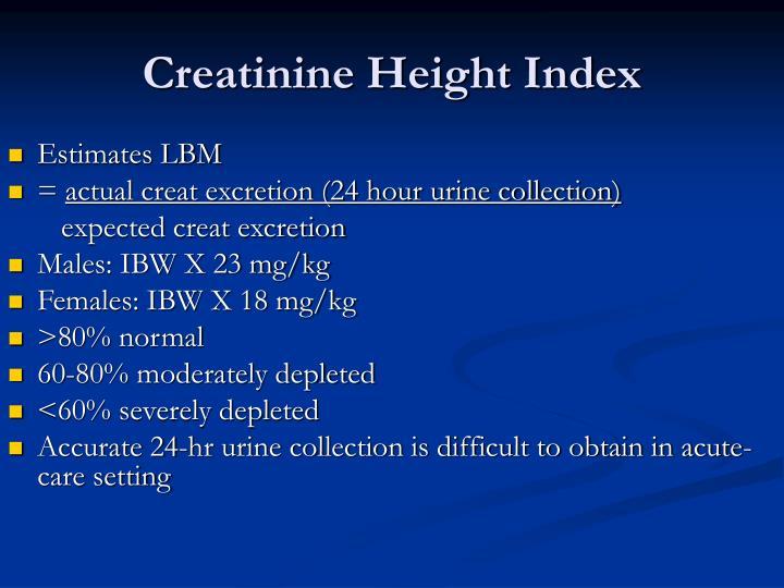 Creatinine Height Index