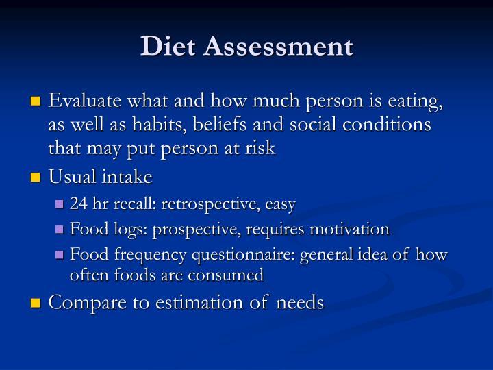 Diet Assessment
