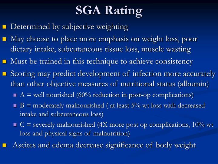 SGA Rating