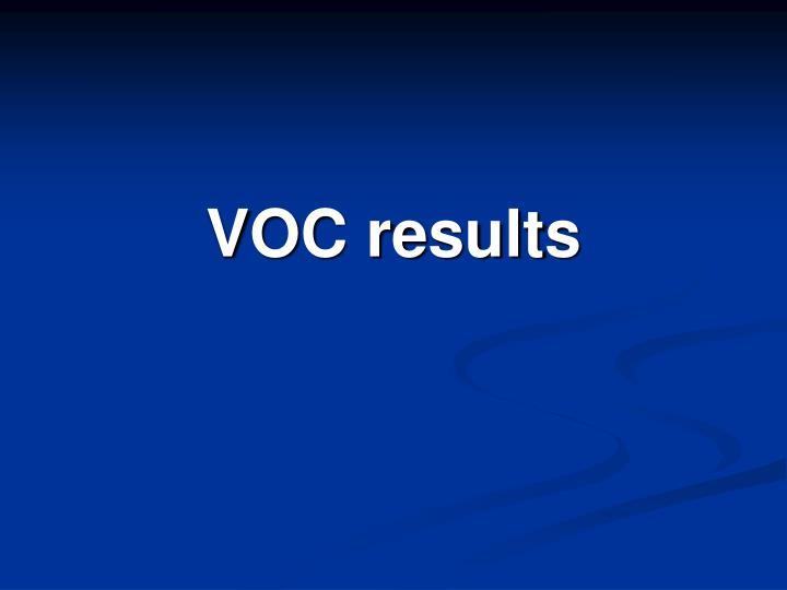 VOC results
