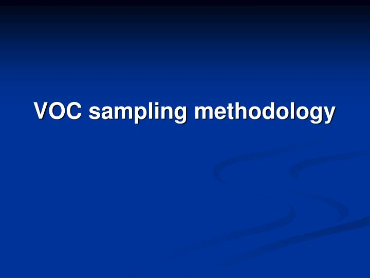 VOC sampling methodology