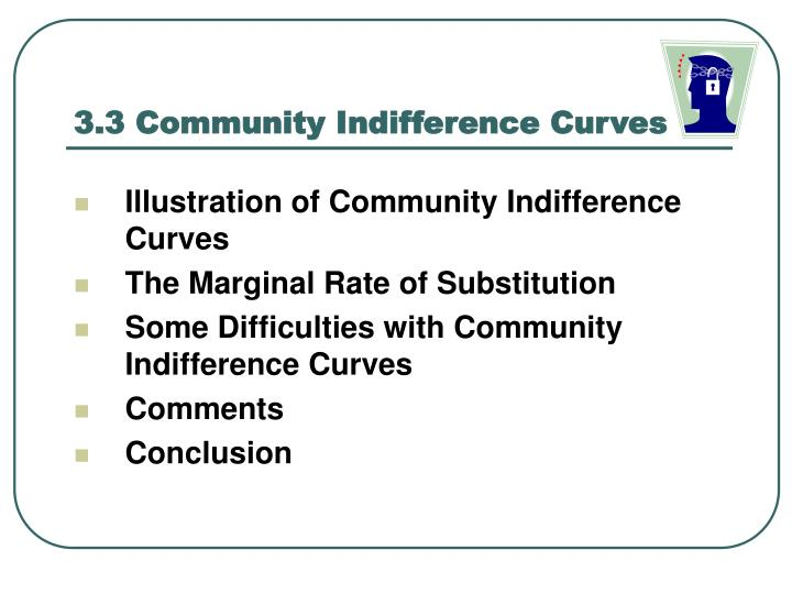 3.3 Community Indifference Curves